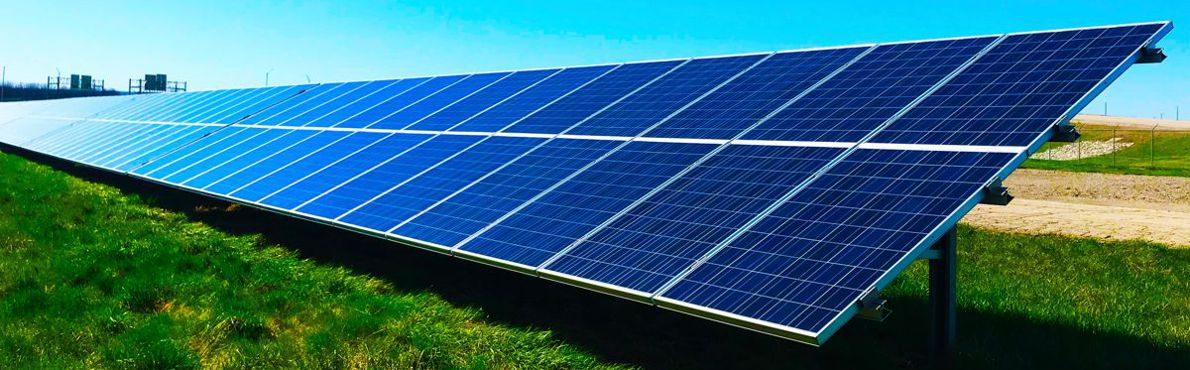 PV panels in field